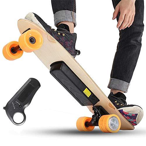 YH-Scooter Skate Eléctrico, Longboard Eléctrico Mando a Distancia Inteligente para niños 24V...