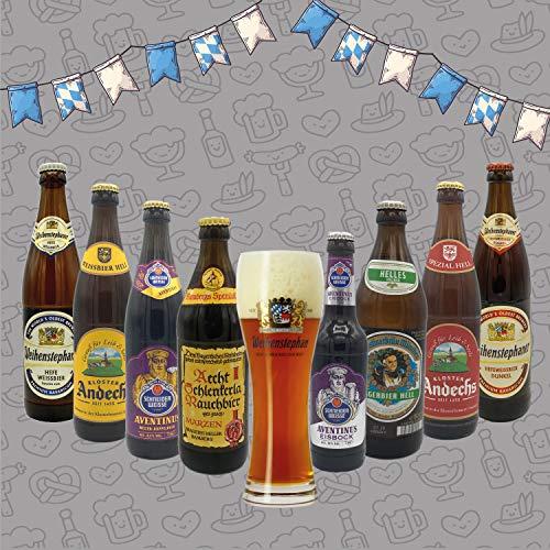 Pack Cervezas Alemanas: 8 Cervezas alemanas de estilos tradicionales y marcas con siglos de historia. Además de un vaso aleman para disfrutar de la cerveza.