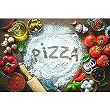 VVBGL Tomaten Pizza Poster Kunstdrucke Küche Gewürz Wand