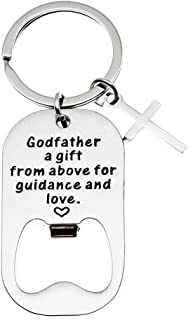 Ms. Clover Godfather Gifts, Godfather a Gift From Above For Guidance And Love Christmas Bottle Opener Key Chain, Religious Godfather Gifts.
