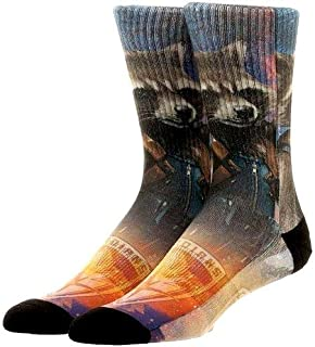 Guardians of the Galaxy Rocket Sublimated Crew Socks, Multi, One Size
