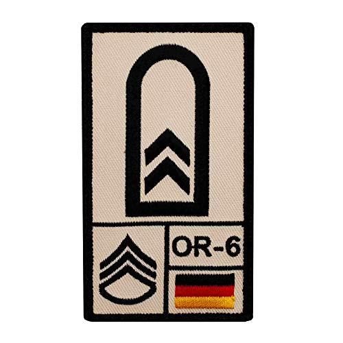Café Viereck ® Oberfeldwebel Bundeswehr Rank Patch mit Dienstgrad - Gestickt mit Klett – 9,8 cm x 5,6 cm