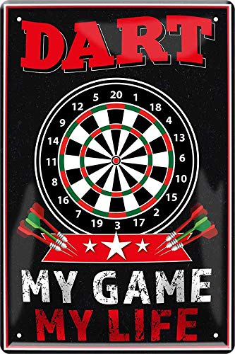 Unbekannt Dart - My Game My Life 20 x 30 cm Haus Bar Party Keller Deko Blechschild 248
