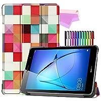 Billionn Huawei MatePad T8(kobe2-L03 / KOB2-L09)タブレット用フォリオ3つ折りスタンドスマートケース[超薄型] [超軽量]、ルービック