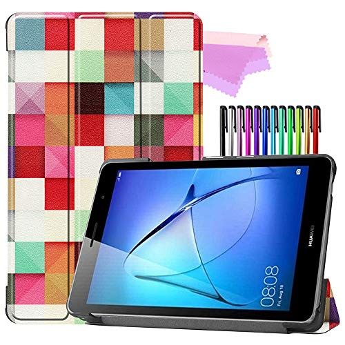 Billionn Folio Trifold Stand Smart Case for Huawei MatePad T8 (kobe2-L03/KOB2-L09) Tablet [Ultra-Thin] [Ultra-Light], Rubik