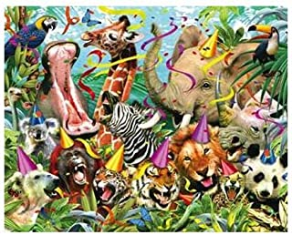 Visual Echo 3D Effect Party Animals 3D Lenticular Puzzle 500pc S4