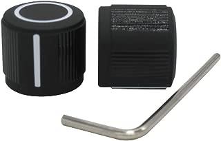 Taiss / 2pcs Black Aluminum Rotary Electronic Control Potentiometer Knob For 6 mm Diameter Shaft, Volume Control Knob, Audio knob, Guitar Knob,Switch Knob, 19mm dia. x 17mm height Knob-1