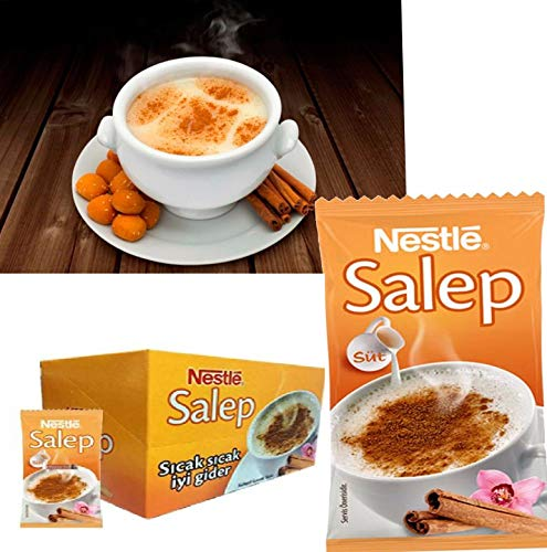 Ablamshop/Nestlé Salep Sahlep Sahlab Instant Mix Sahlab Orchid Salep 10 x 18,5 gramm Salep Instantgetränk - Getränkepulver mit Salep Pulver