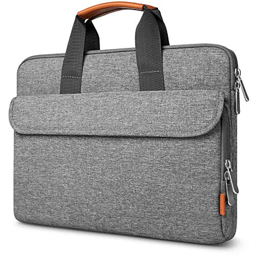 Inateck 360° Protection 13.3 Inch Laptop Briefcase Sleeve Compatible with Chromebook Ultrabook Notebook Macbook Air/Pro 13 Inch, Matebook D14, with Large Accessories Pocket