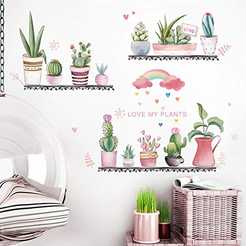 YIMING Garden Plant Wall Stickers DIY Tree Leaves Mural Decals for Living Room Kids Bedroom Kitchen Home Decoration 113x91cm