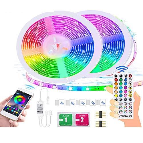 Cadena de Luces Luces con Luces con Kit de Bluetooth Epoxi Impermeable RGB Luces de Colores Carpas Artículo 5050 10M300 (Tamaño: 10m)