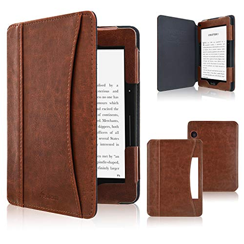 ACdream Case Fits Kindle Voyage 2014 Release, Folio Smart Cover Leather Case with Auto Wake Sleep Feature for Amazon Kindle Voyage, Brown
