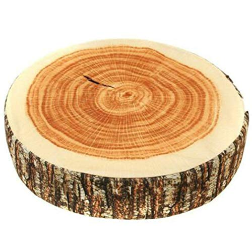 XQWR Creative Natural Wood Design Tree Trunk Log Cushion Soft Chair Cushion Pillows Gift Home Sofa (1#)