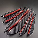 6 piezas Universal Negro Fibra de carbono Accesorios de estilo de coche Parachoques delantero Labio Goma Aleta Divisor Spoiler Canard Valence Pegatina