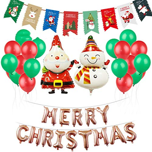 WWWWW Kerstdecoratie, getekend vrolijk, kerstdagletters en leeftijd man-feest-wanddecoraties in ballon op feestdecoratie