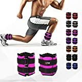 Xn8 Ankle Weights Adjustable Strap | 1kg-5kg Pair Wrist Leg Weight for Fitness-Exercise-Walking-Jogging-Gymnastics-Aerobics-Gym