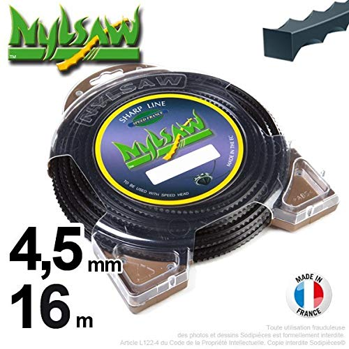 Nylon Brushcutter Cord nylsaw Dent 27/ m 3.5/ mm in Case