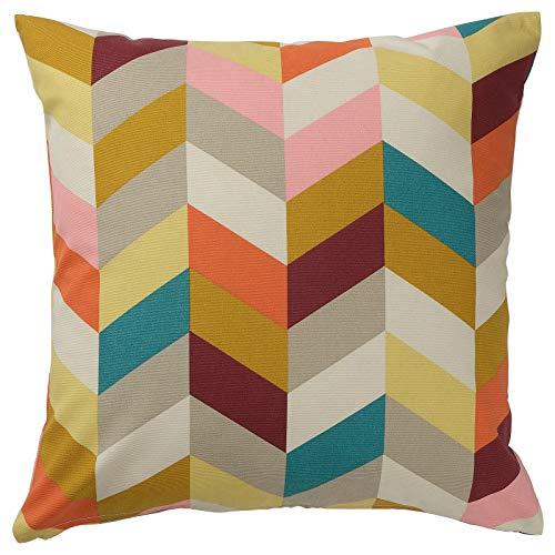 Almohada Zig-Zag de algodón, multicolor, 50 x 50 cm