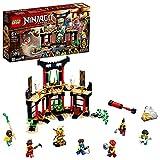 LEGO 71735 Ninjago LeTournoideséléments Jeu de Construction avec arène de Combat et Figurine de Ninja Lloyd Or à Collectionner