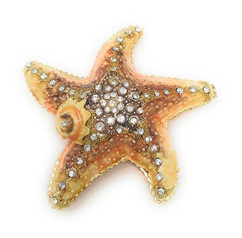 Kubla Crafts Schmuckkästchen mit Seestern, emailliert, mit österreichischen Kristallen