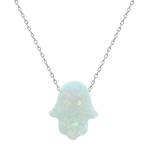 131acd01b Fire Opal Hamsa Hand Opal Pendant Multi Color Opal Necklace 925 Sterling  Silver Necklace