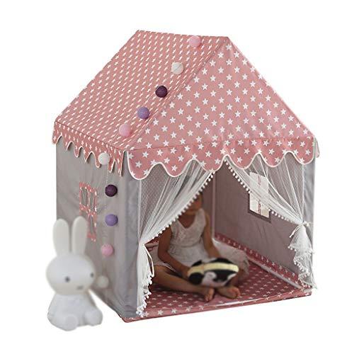 Tents Mädchenschlafzelt, Eltern-Kind-Buch Environmentally Friendly Zelt/Vergrößerungs Space Design/Symmetrische Fenster (Size : 120 * 105 * 140cm)