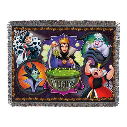 Disney-Pixar Villains, Vile Villains Woven Tapestry Throw Blanket, 48 x 60, Multi Color, 1 Count
