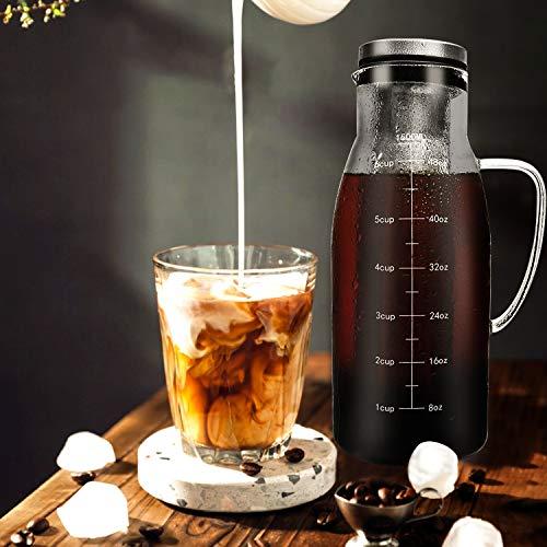 Airtight Cold Brew Coffee Maker 1.5L/51OZ,...