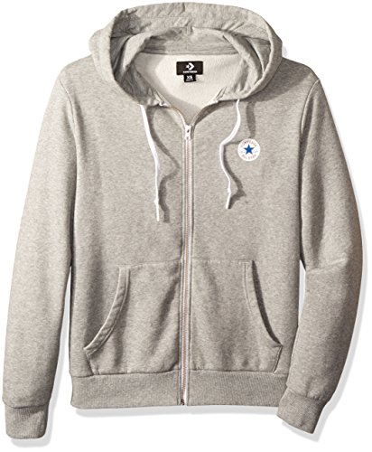 Converse Herren Core Full Zip Hoodie Sportkapuzenpullover, Grau (Vintage Grey Heather 035), Large