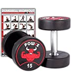 POWRX Professionell Rundhantel 2er Set | Gummi Kurzhantel Beschichtung GERUCHSNEUTRAL 5-30 kg |...