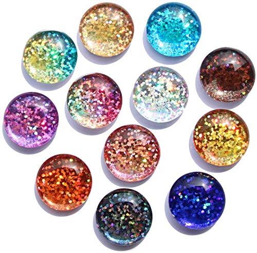 Cosylove 12 Stück Kristallglas Kühlschrankmagnete, Kreative Kühlschrankmagnete Niedliche Wohnkultur Magnetische Aufkleber Büromagnete Set Für Trockenlöschbrett, Schränke, Whiteboards, Fotos, Hinweis