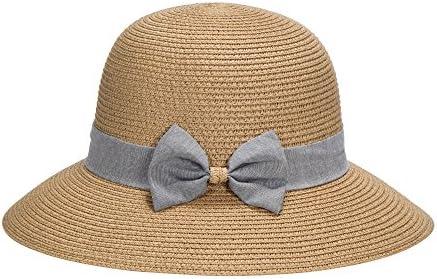 Miuno/® Damen Sonnenhut Elegant Partyhut Faltbare Kappen Sonnen Schutzen Blau H51303-6