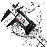 Calibrador Digital, Micrómetro de alta Precisión, Calibrador Digital Electrónico de Acero Inoxidable, Medida de 0,01 mm/Pulgada, Medición Rápida y Precisa, Lectura Conveniente.