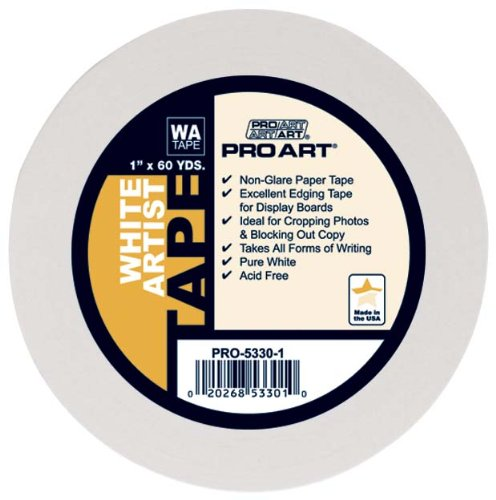 Pro-Art Artist Tape, weiß, 3/4-Inch by 60-Yard