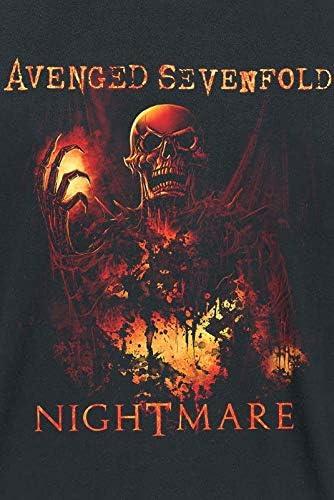 Avenged Sevenfold Nightmare Hombre Camiseta Negro, Regular