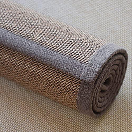 Alfombra Bambú Alfombra de Bambú para Exteriores, Interior, Alfombra de Bambú Tradicional Japonesa, Alfombrilla de Verano, Lisa Sin Fallas, Fácil de Limpiar, Antideslizante