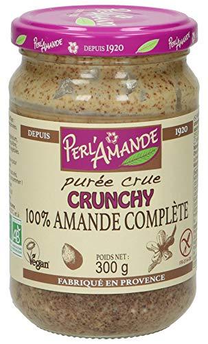 Perl'Amande Purée Crue Crunchy 100% Amande Complète 300 g