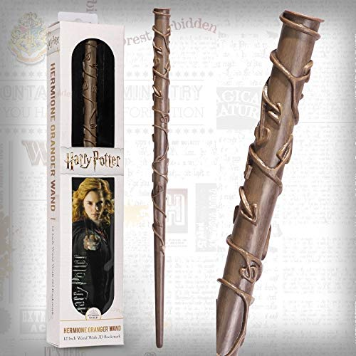The Noble Collection Hermione Granger PVC Wand and Prismatic Bookmark