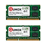 QUMOX Memoria SODIMM 16GB(2 x 8GB) DDR3L-1600 204 Pines (1600Mhz, PC3L-12800S, CL11, 1.35V, Low Voltage) para Portátil