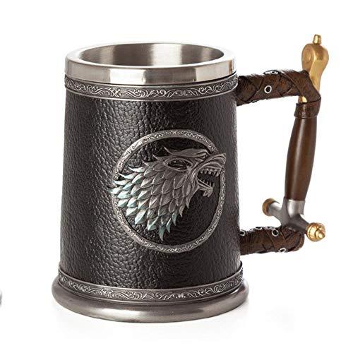 Creative Een Lied van IJs en Vuur Game of Thrones hars wijn schedel kop in roestvrij stalen kop whisky glas bier,Leon Copa,501-600ml