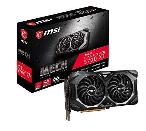 MSI Radeon RX 5700 XT MECH OC - Scheda grafica ENTHUSIAST, 256 bit, 8 GB GDDR6, HDMI, DP, PCI Express 4.0