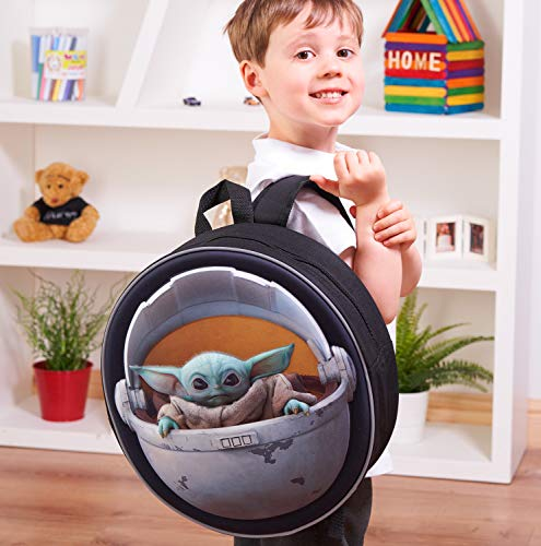 51OKlcxjN7L - Disney® Official Star Wars The Child Backpack Baby Yoda Mandalorian | Licenced School Travel Bags Baby Yoda in Carriage…