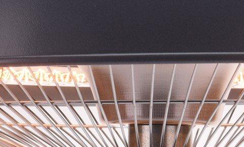 Terrassenheizung hängend, Heizstrahler für Deckenmontage 1500 Watt - 4