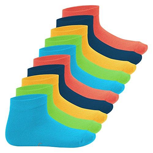 Footstar Kinder Kurzschaft Socken (10 Paar) - Sneak it! - Trendfarben 31-34