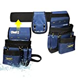 FASITE PTN012A 32-Pocket 2 Pouch Utility Multifunction Tool Belt Bag, Blue
