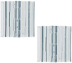 Source One Premium 1 x 1 5/16 Inch Clear Acrylic Plexiglass Lucite Hinge Pack of 10, 25 & 50 (10 Pack)