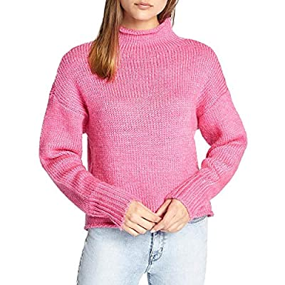Sanctuary Curl Up Sweater Dark Pink Size Medium