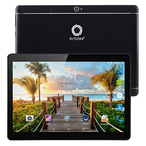Nuevo Tablet Artizlee ATL-31, 10.1' 4G Tablet Pc (Android 6.0, Octa Core, FHD 1920x1200 IPS, Dual Sim, 2GB RAM, 32GB, Cámara 5.0MP, WiFi, Bluetooth, OTG) Negro, 2017 Versión Actualizada
