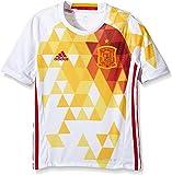 adidas FEF A JSY Y Camiseta Selección Española de Futbol 2ª Equipación 2016/2017, niño, Blanco/Rojo/Amarillo (Blanco/Rojfu), 152