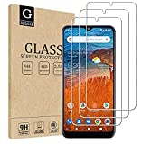 [3-Pack] GLBLAUCK Screen Protector for ZTE ZMax 10 / ZTE Z6250 Tempered Glass, HD Clear Bubble Free Anti-Scratch Anti-Fingerprint 9H Hardness Easy to Install Friendly Case